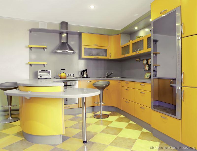cozinha amarela linda
