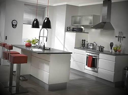 cozinha americana bem pequena mas moderna