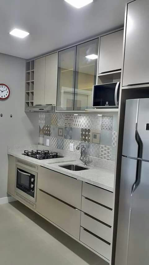 cozinha planejada apartamento branca