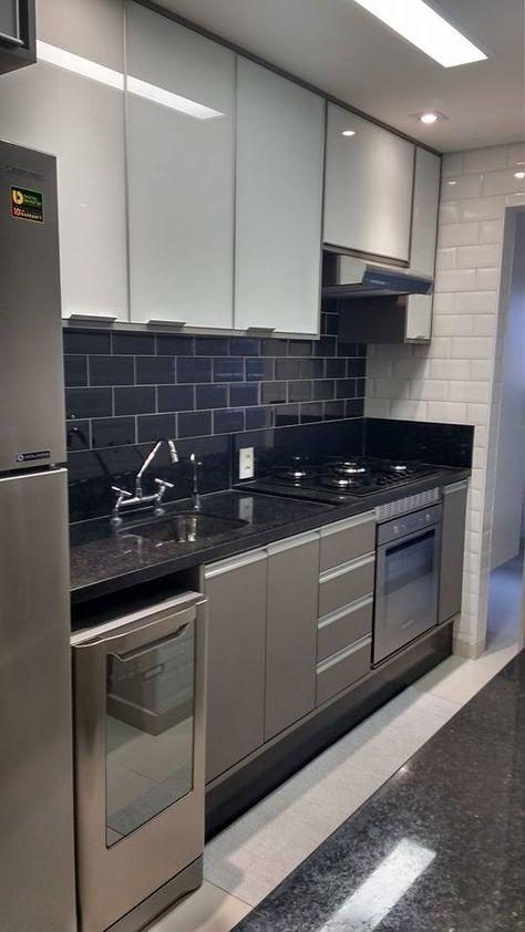cozinha planejada apartamento cinza