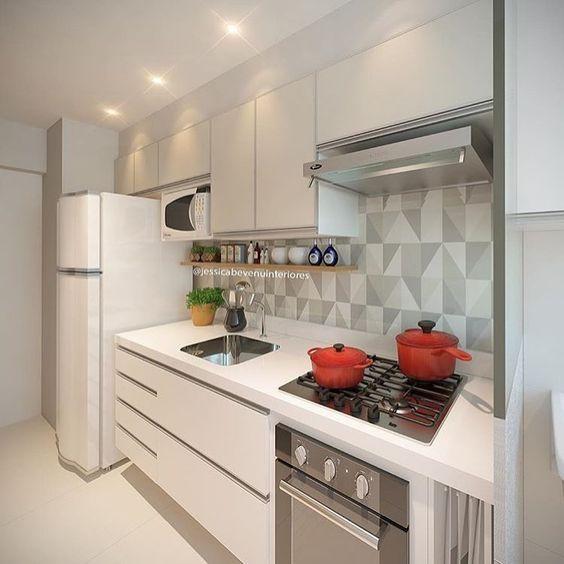cozinha planejada apartamento moderna