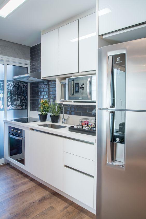 cozinha planejada apartamento simples