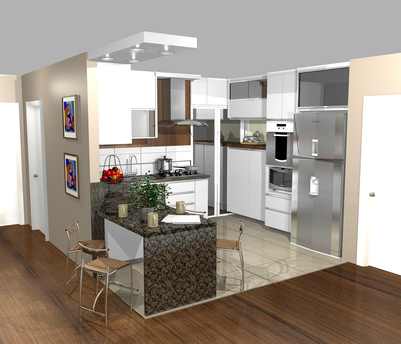 cozinha planejadas pequenas decorada americana
