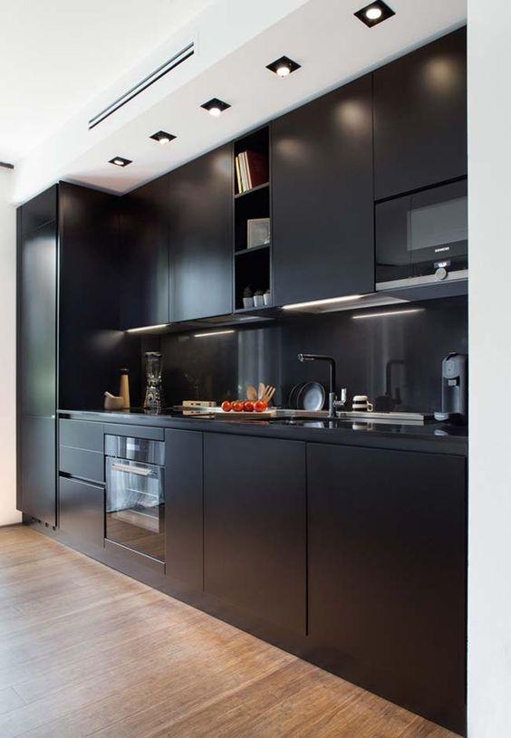 cozinha preta total