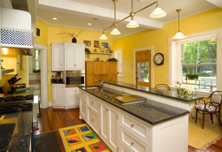 cozinha rustica em tons amarelos