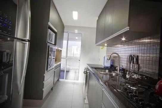 cozinha corredor apartamento dicas decora o modelos