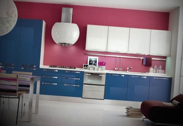 cozinhas coloridas modernas foto