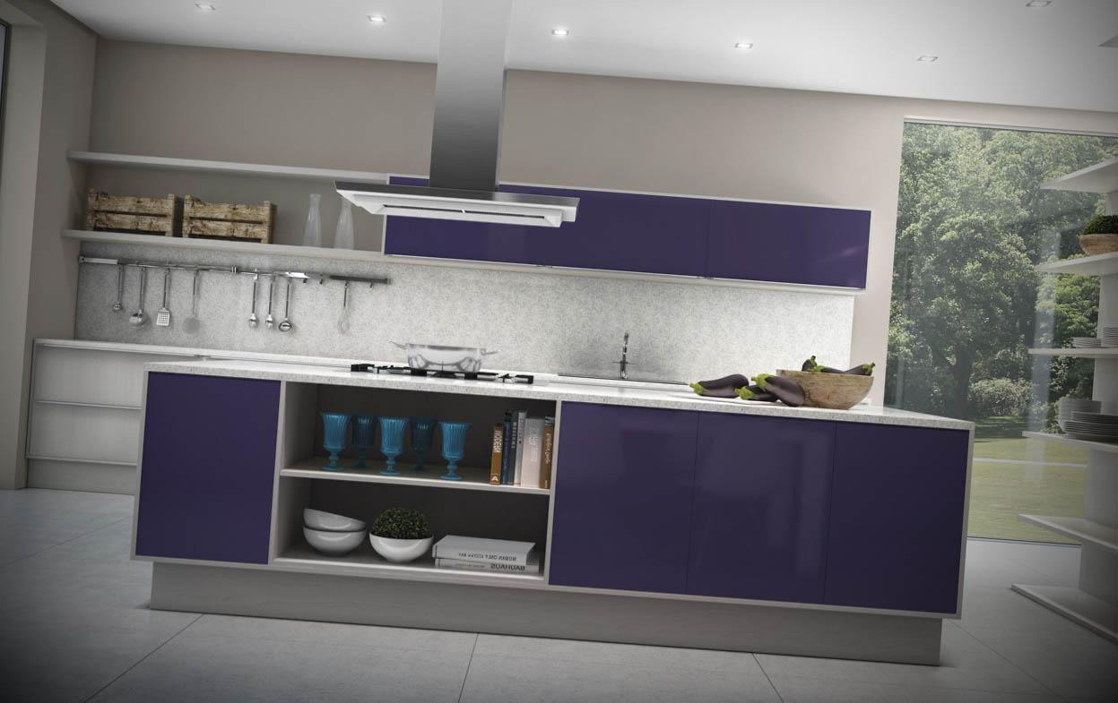 cozinhas coloridas modernas