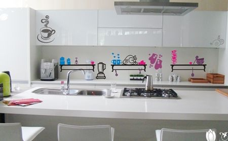 cozinhas decoradas com adesivos