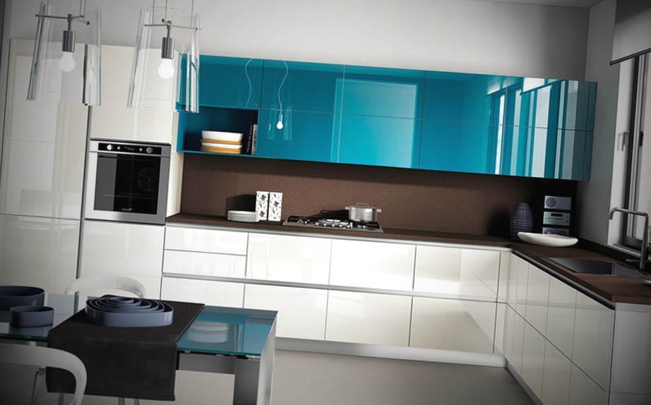 cozinhas modernas cheias de cor