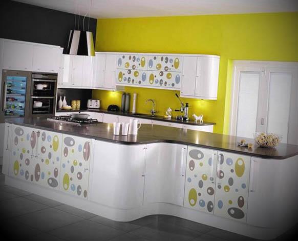 cozinhas modernas coloridas