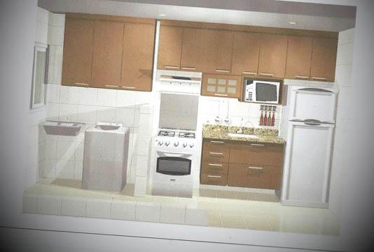 cozinhas planejadas apartamento pequeno