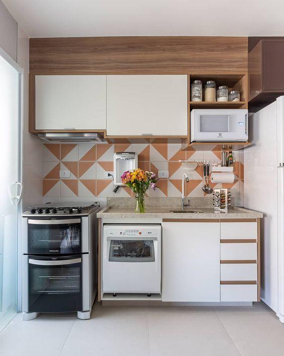 cozinhas planejadas apartamentos pequenos 1