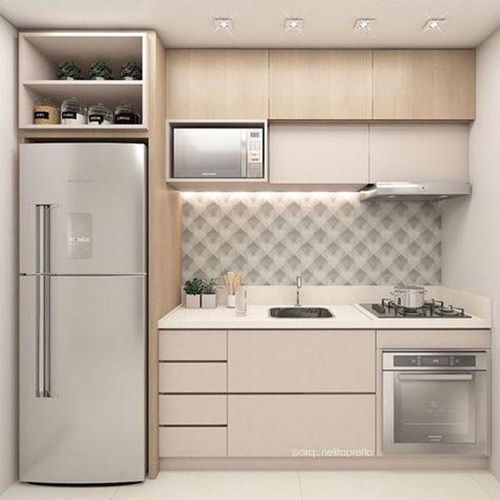 cozinhas planejadas apartamentos pequenos 4