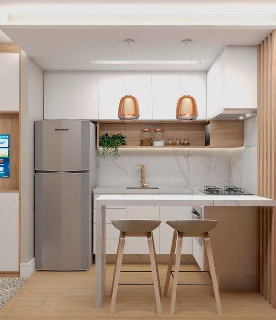 cozinhas planejadas apartamentos pequenos 5