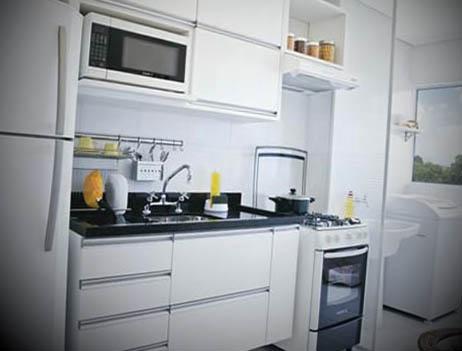 cozinhas planejadas branca para apartamento pequeno