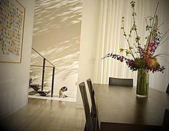 decoração de sala de jantar delicada