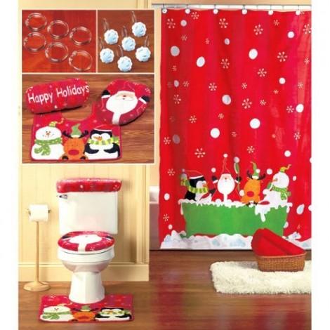 decoração do banheiro com natal