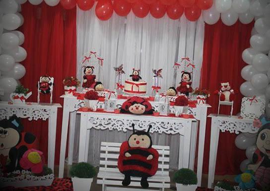 decoração festa infantil varios temas joaninha