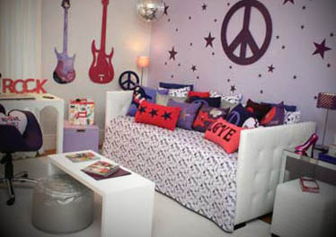 decoração musical rock