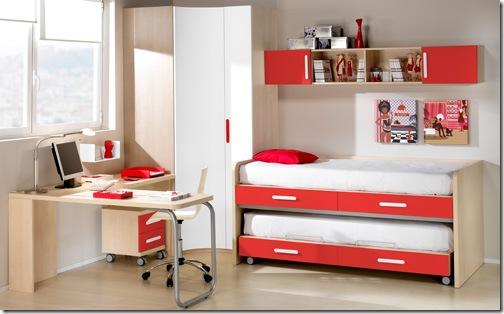 decoração quarto infantil - camas compactas