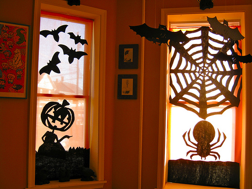 decoraçao halloween janela