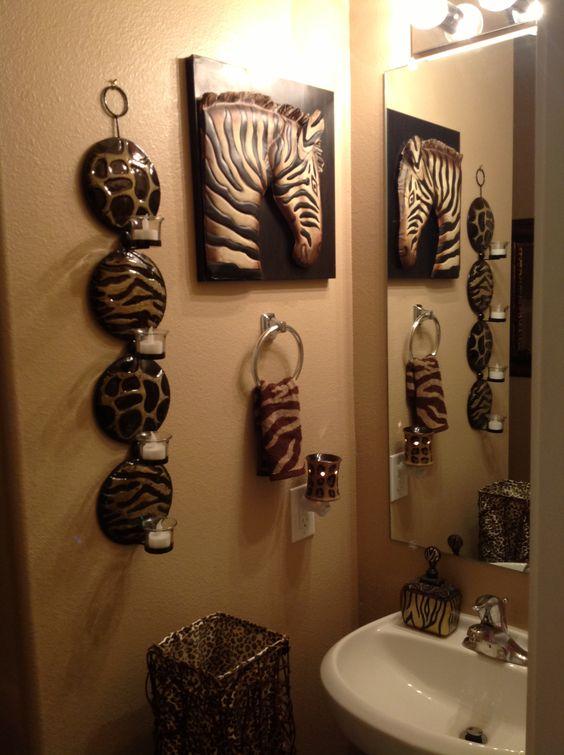 decoracao animal print banheiro ideias