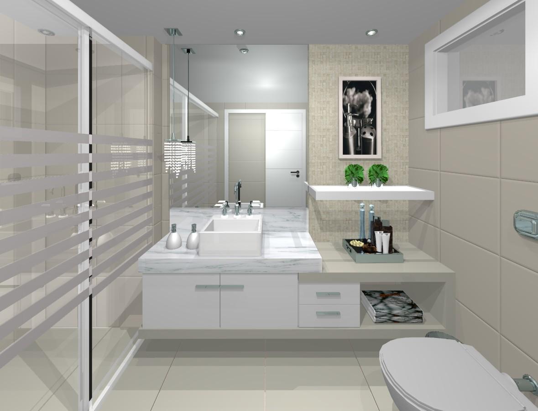 decoracao apartamento branco banheiro