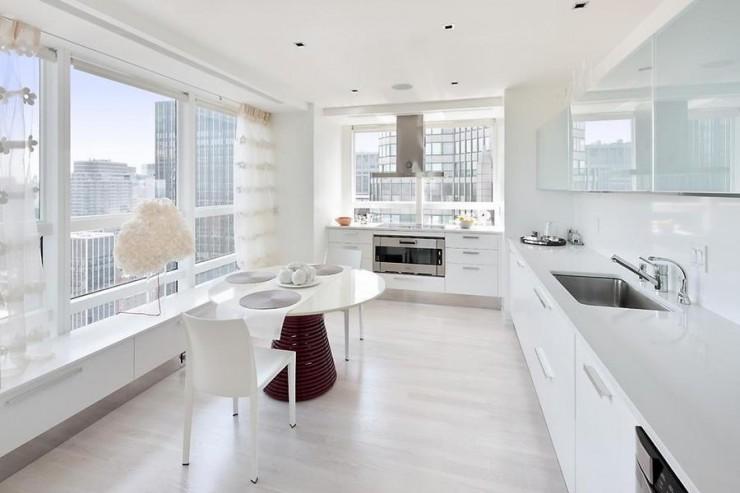 decoracao apartamento branco cozinha