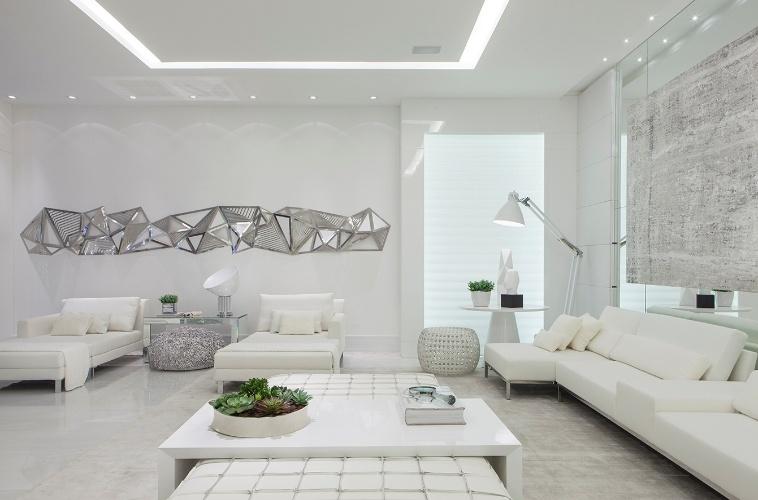decoracao apartamento branco sala 1