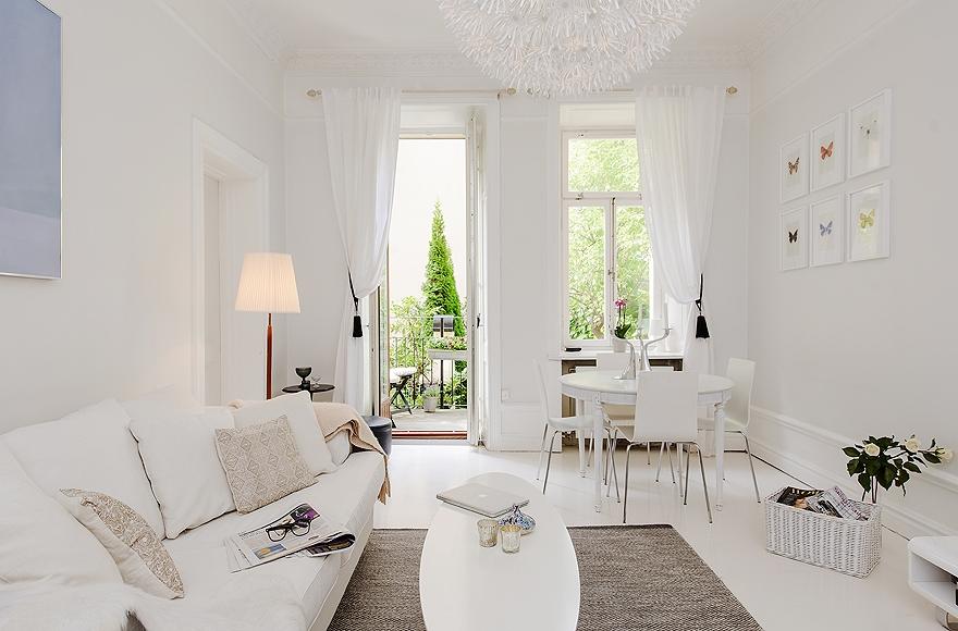 decoracao apartamento branco sala 2