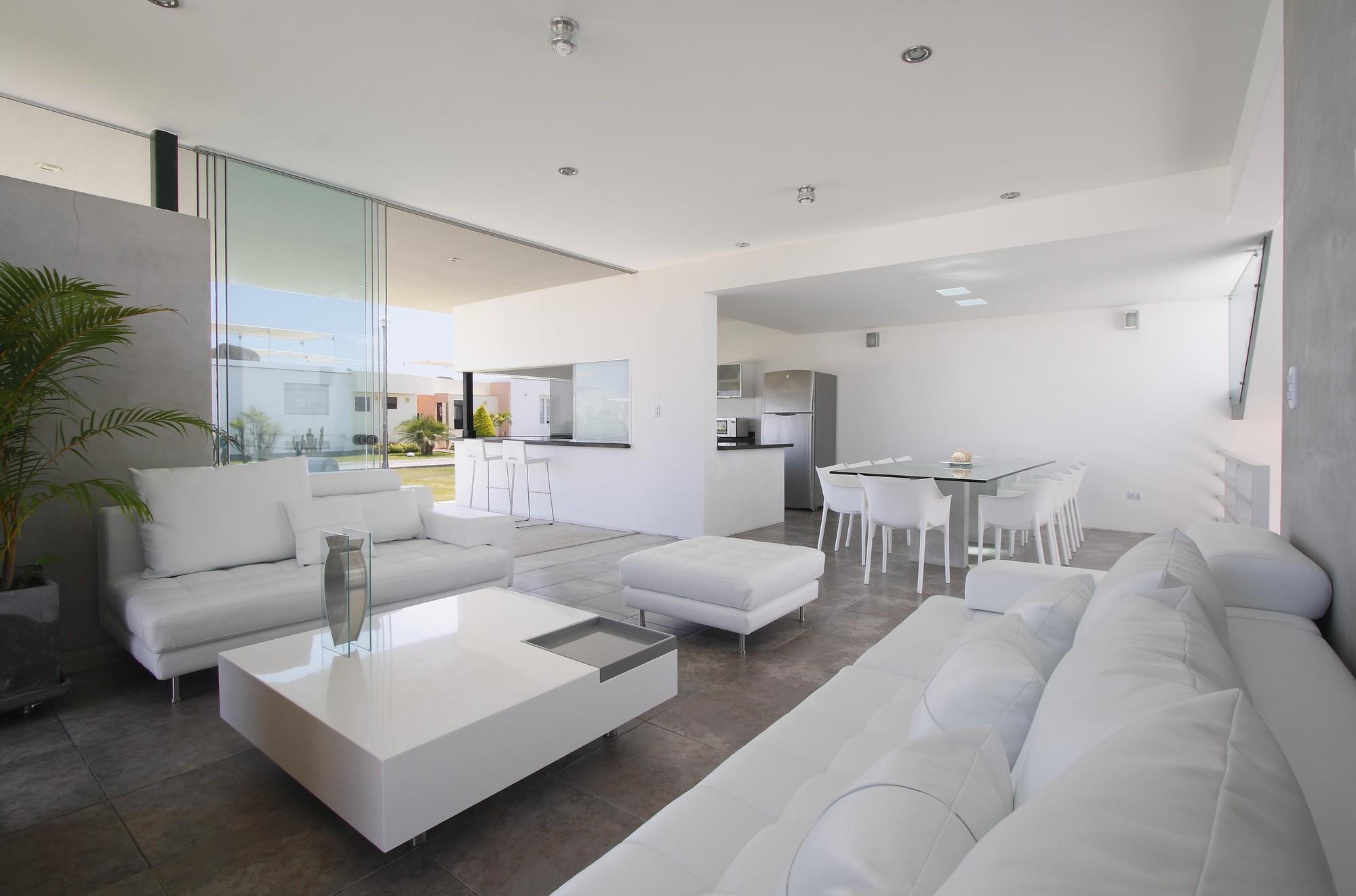 decoracao apartamento branco sala
