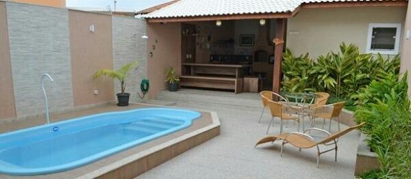 decoracao area lazer churrasqueira piscina