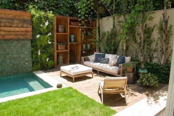 decoracao area lazer jardim