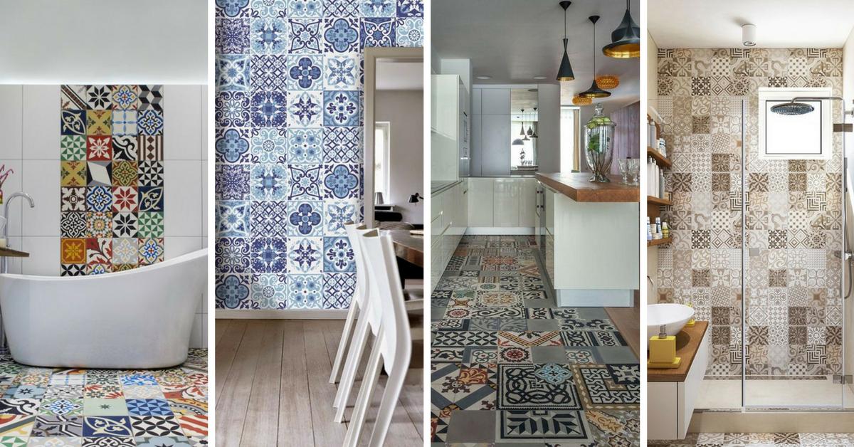 12 ideias para usar azulejos decorados na sua casa for Azulejos decorados