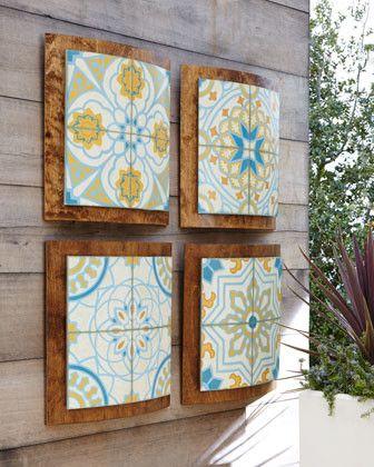 decoracao azulejos jardim
