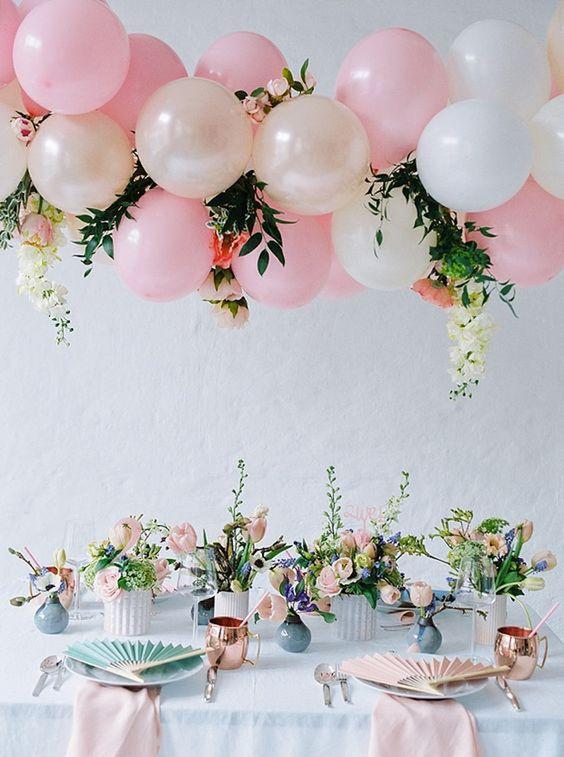 decoracao baloes casamento