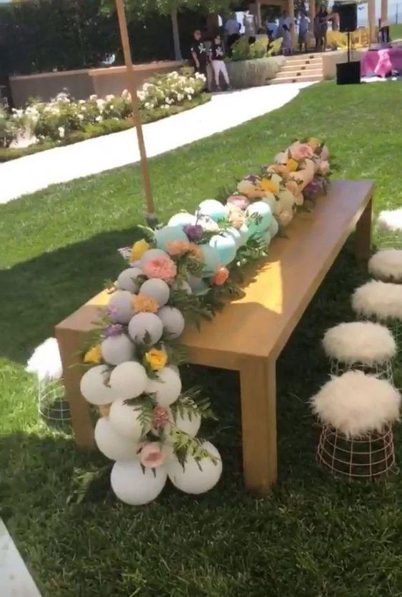 decoracao baloes centro mesa
