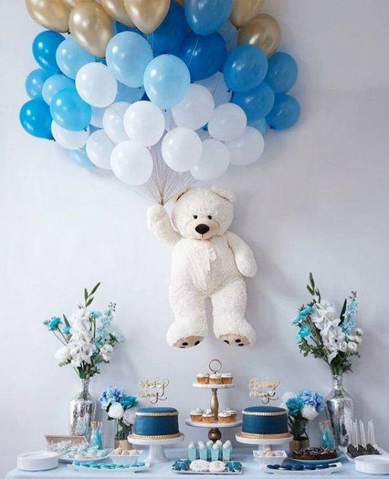 decoracao baloes cha bebe