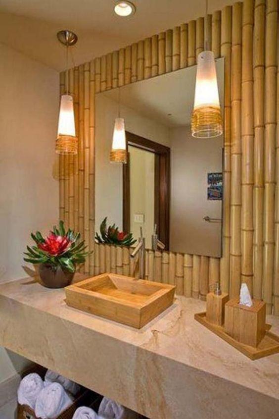 decoracao bambu