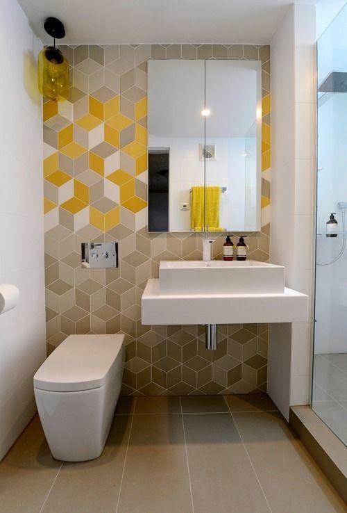 decoracao banheiro criativo amarelo