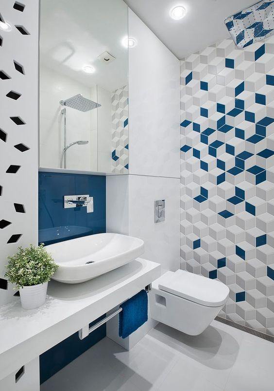 decoracao banheiro criativo colorido