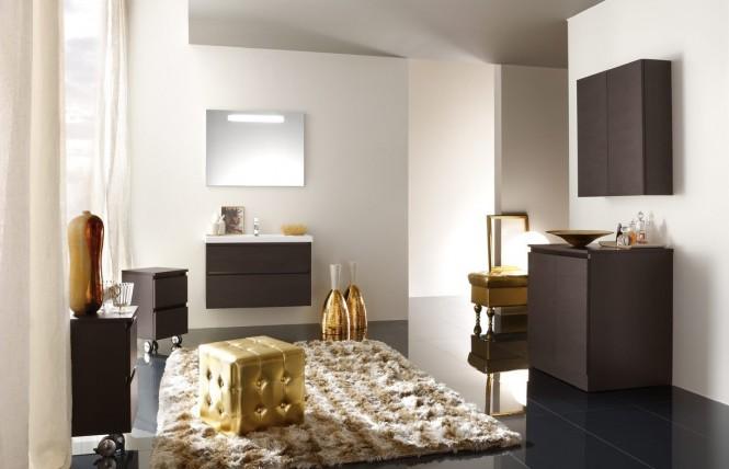 decoracao banheiro dourado