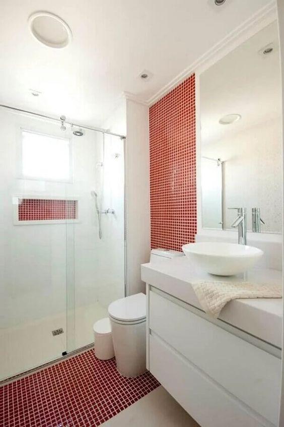 decoracao banheiro pastilha vermelho 2
