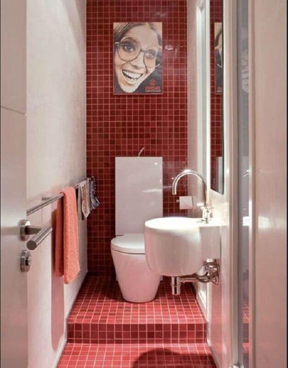 decoracao banheiro pastilha vermelho 3