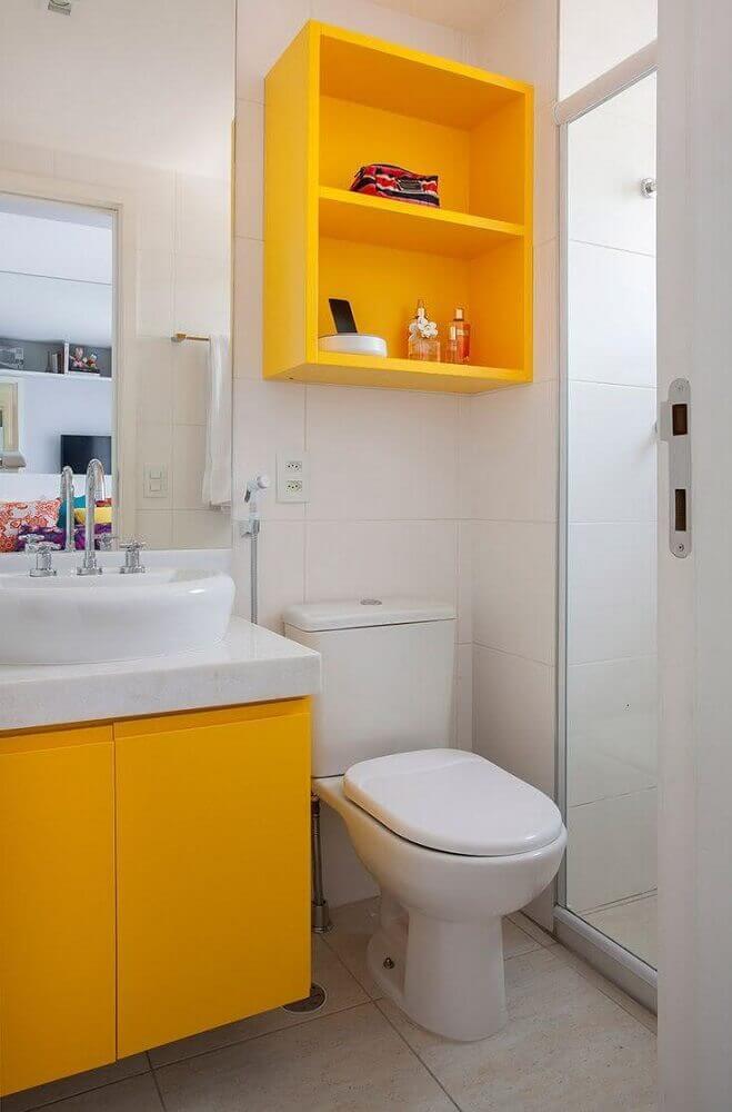 decoracao banheiros pequenos colorido