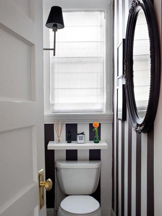decoracao banheiros pequenos criativo preto