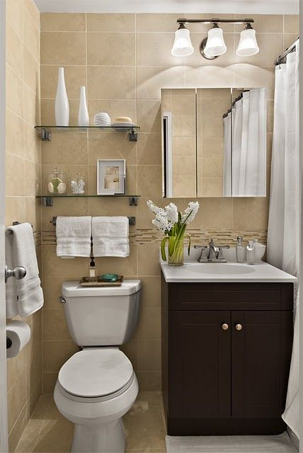 decoracao banheiros pequenos neutro