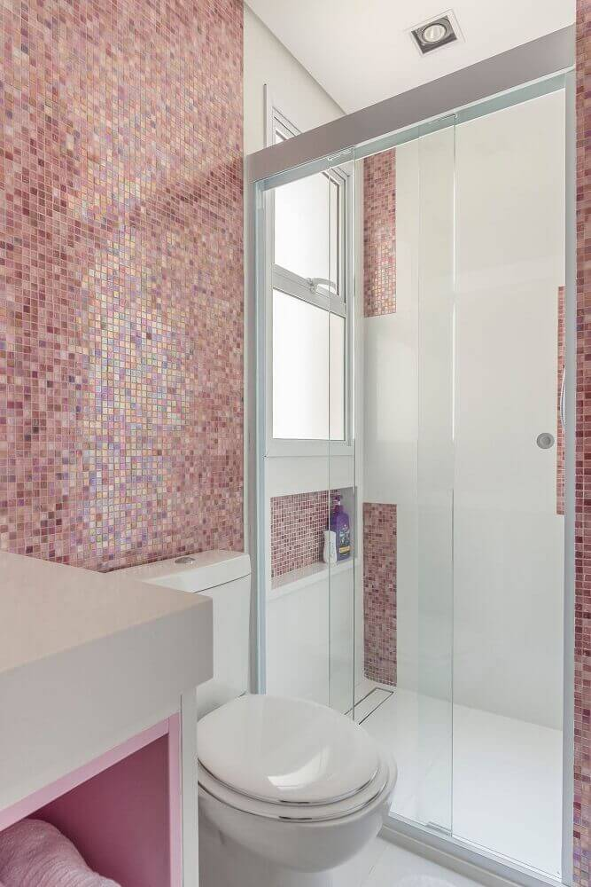 decoracao banheiros pequenos rosa