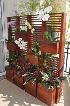 decoracao biombos madeira
